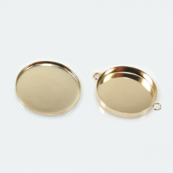 22mm Round Gold Filled Bezel Cup