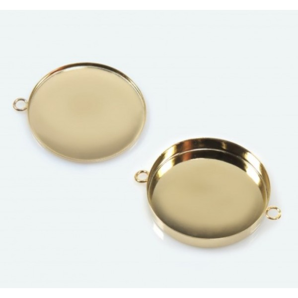 35mm Round Gold Filled Bezel Cup
