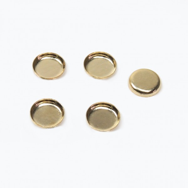 5mm Round Gold Filled Bezel Cup