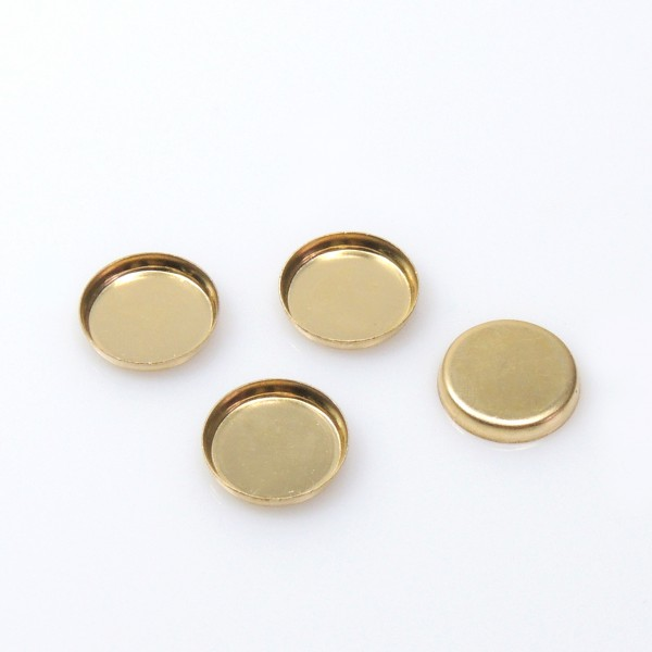 7mm Round Gold Filled Bezel Cup
