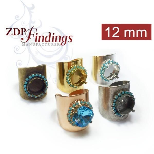 12mm 1122 Ring Base, Shiny Gold
