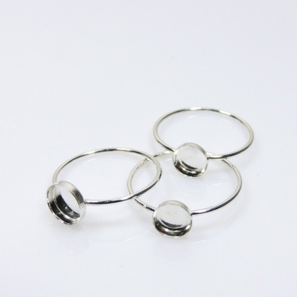 Round Ring Base Sterling Silver 925