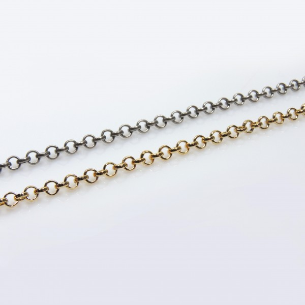Round Links 4mm Rolo Brass Chain