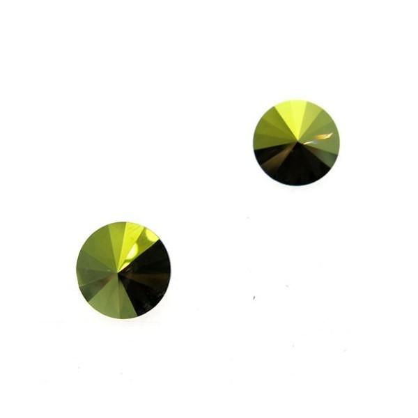 ss47 1122 Swarovski Rivoli Iridescent Green