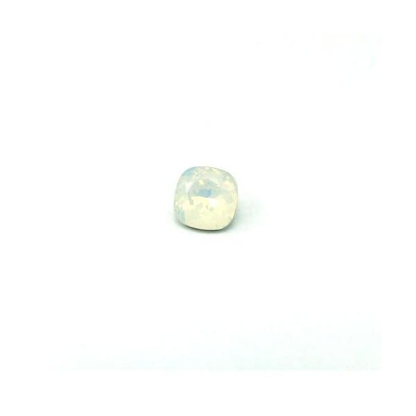 10mm 4470 Swarovski Square (cushion) White Opal