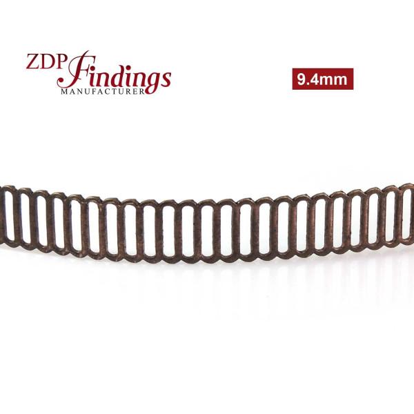 9.4mm Width Brass Gallery Pattern Wire, 24 inch
