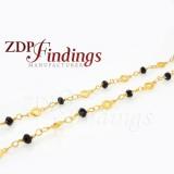 4mm Black beads, Rosary Chain