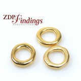 12mm Casting Matt Gold Plating Round Beads