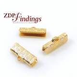 Ends Cups 13x6mm for flat cord Matte gold plated