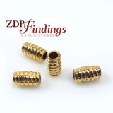 10x5mm Gold Plated Spiral casting Beads