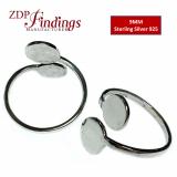 Signet Ring 925 Silver Adjustable Ring Base