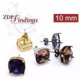 10mm 4470 Swarovski Post Earrings