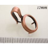 12mm Brass Bezel For Setting -Antique Copper