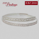 12 Inch Gallery Wire 935 Sterling Silver , 6.8mm