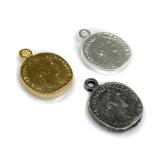 20x15mm Antique Coin Medallion Pendant