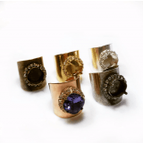 Rhinestone Ring fit 12mm Square Swarovski 4470