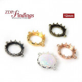 New! 12mm Evolve Crown Bezel setting Collection -Shiny Gold