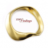 46mm Amorphous Large Hoop ,Matte Gold Plated