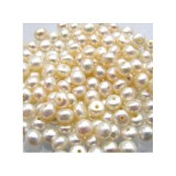 White Freshwater Pearls Half Drilled Hole
