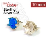 10mm Stud Earring, 925 Sterling silver