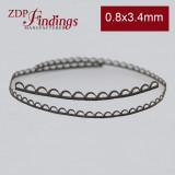 24 Inch (61cm) x3.4mm Width Brass Strip Gallery Decorative Filigree Pattern Wire