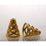 12.4x7.5mm Shiny Gold Cones