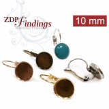 Round 10mm Lever back Earrings