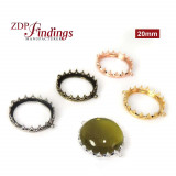 New! 20mm Evolve Crown Bezel setting Collection -Shiny Gold