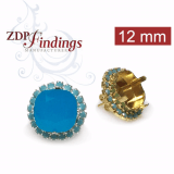 12mm 4470 Swarovski Post Rhinestone Earrings, Choose your options