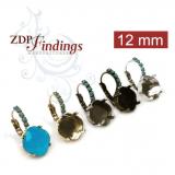 12mm 4470 Swarovski Lever back Rhinestone Earrings