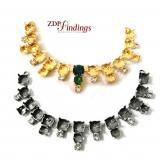 Necklace centerpiece w  39ss, 29ss   rhinestones Swarovski