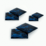 Mother of Pearl Square Flat, Choose your size.