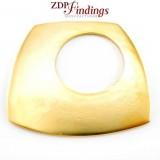 70mm Amorphous Pendant Decoration,Matte Gold Plated