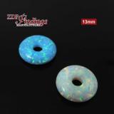 13mm White Donut Opal
