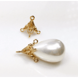 Classic Micron Gold Plated Cap & Peg For Beads Or Pearls.