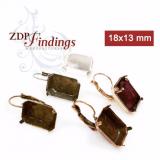 18x13mm Octagon Lever back Earrings Fit Swarovski 4610