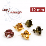 12mm 1122 Swarovski Post Earrings, Choose your options