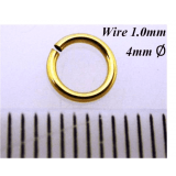 14k Gold Filled Jump Rings 1.0mm Gauge x4.0mm