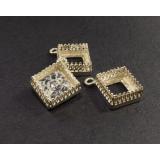10mm Square 925 Sterling silver Bezel