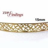15mm Width Brass Gallery Pattern Wire, 24 inch