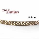 8.5mm Width Brass Gallery Pattern Wire, 24 inch