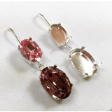 18x13mm 4120 Swarovski Kidney Wire Earrings