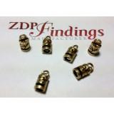 3.00mm Hole Antique Brass End Cap