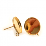 Round Gold filled Bezel on Post, Choose your size