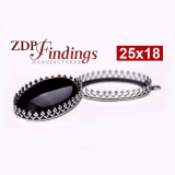 25x18mm Oval 925 Sterling silver Bezel