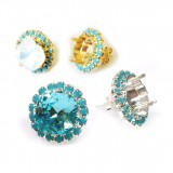 10mm 4470 Swarovski Post Rhinestone Earrings