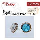 12mm 1122 Swarovski Post Rhinestone Earrings