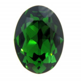 18x13mm 4120 Swarovski Oval Dark Moss Green