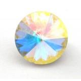 12mm 1122 Swarovski Rivoli Crystal Aurora Borealis