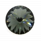 18mm 1122 Swarovski Rivoli Black Diamond